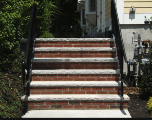 brick and concrete steps in fayetteville ar