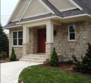 front of house stone work in fayetteville ar
