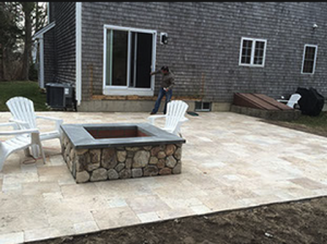outdoor firepit with stone in fayetteville ar