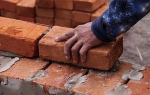 masonry brick laying in progress in fayetteville ar