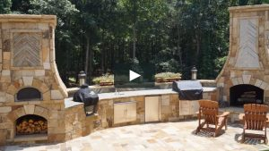 Springdale Ar outdoor fireplace installation